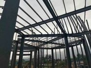 Economic Workshop Building Steel Frame With Grey Blue Color Steel Tile
